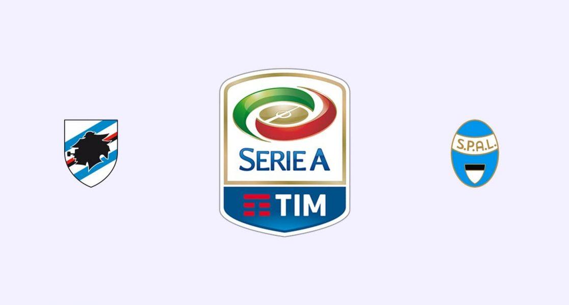 Football Prediction Sampdoria vs Spal