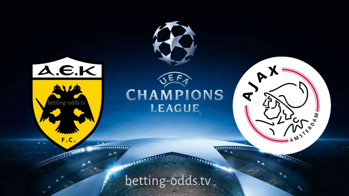 Aek Athens vs Ajax Champions League