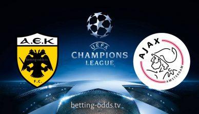 Aek Athens vs Ajax Champions League