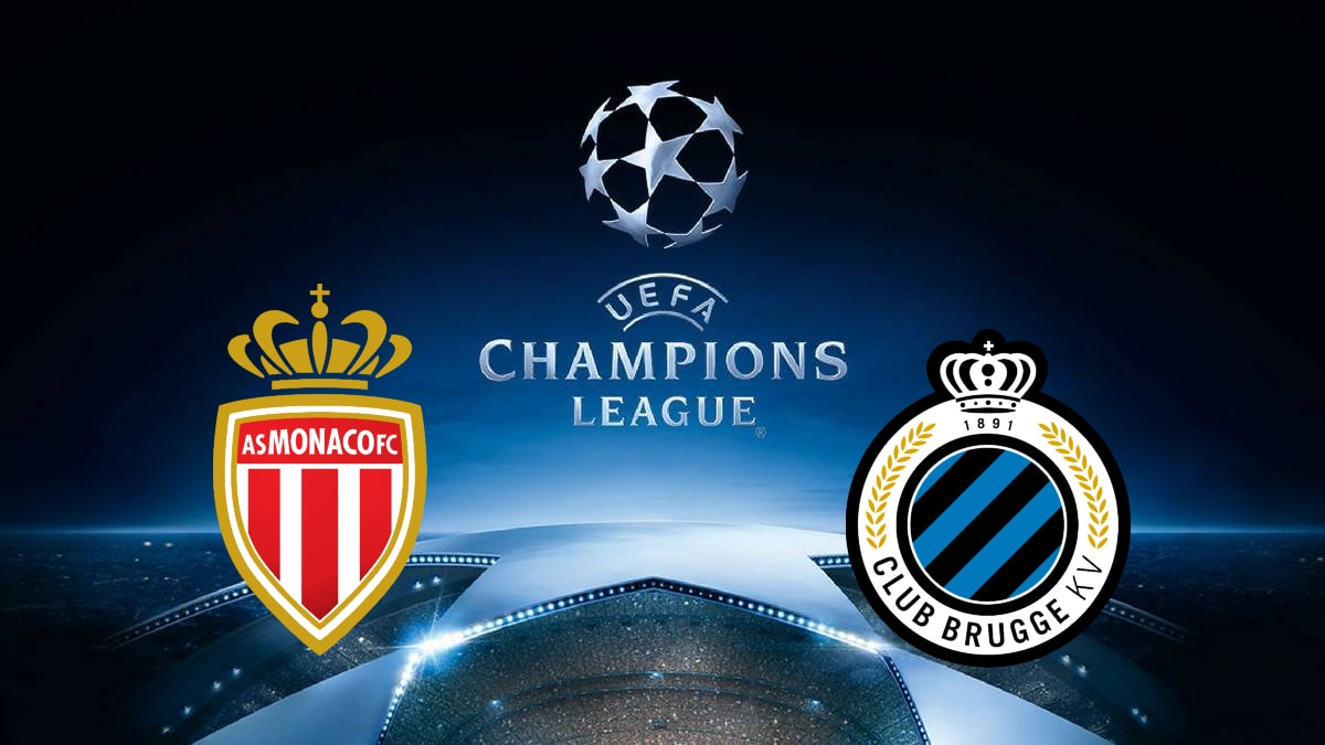 Champions League Monaco vs Club Bruges 6/11/2018