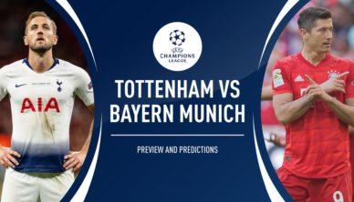 Tottenham vs Bayern Free Betting Predictions and Odds